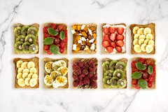 Bakers Delight toast with toppings