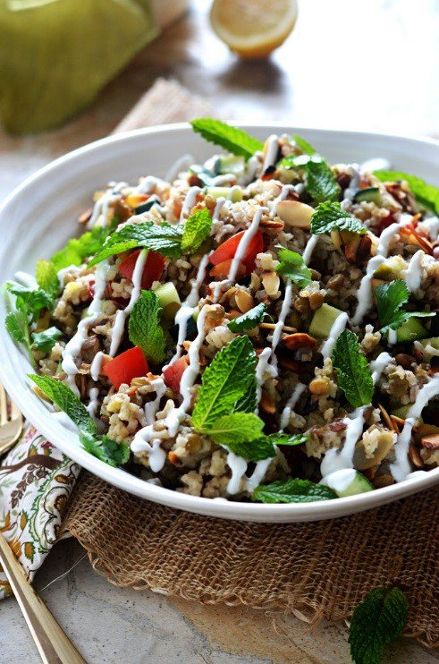 Low FODMAP Aromatic Rice & Lentil Salad
