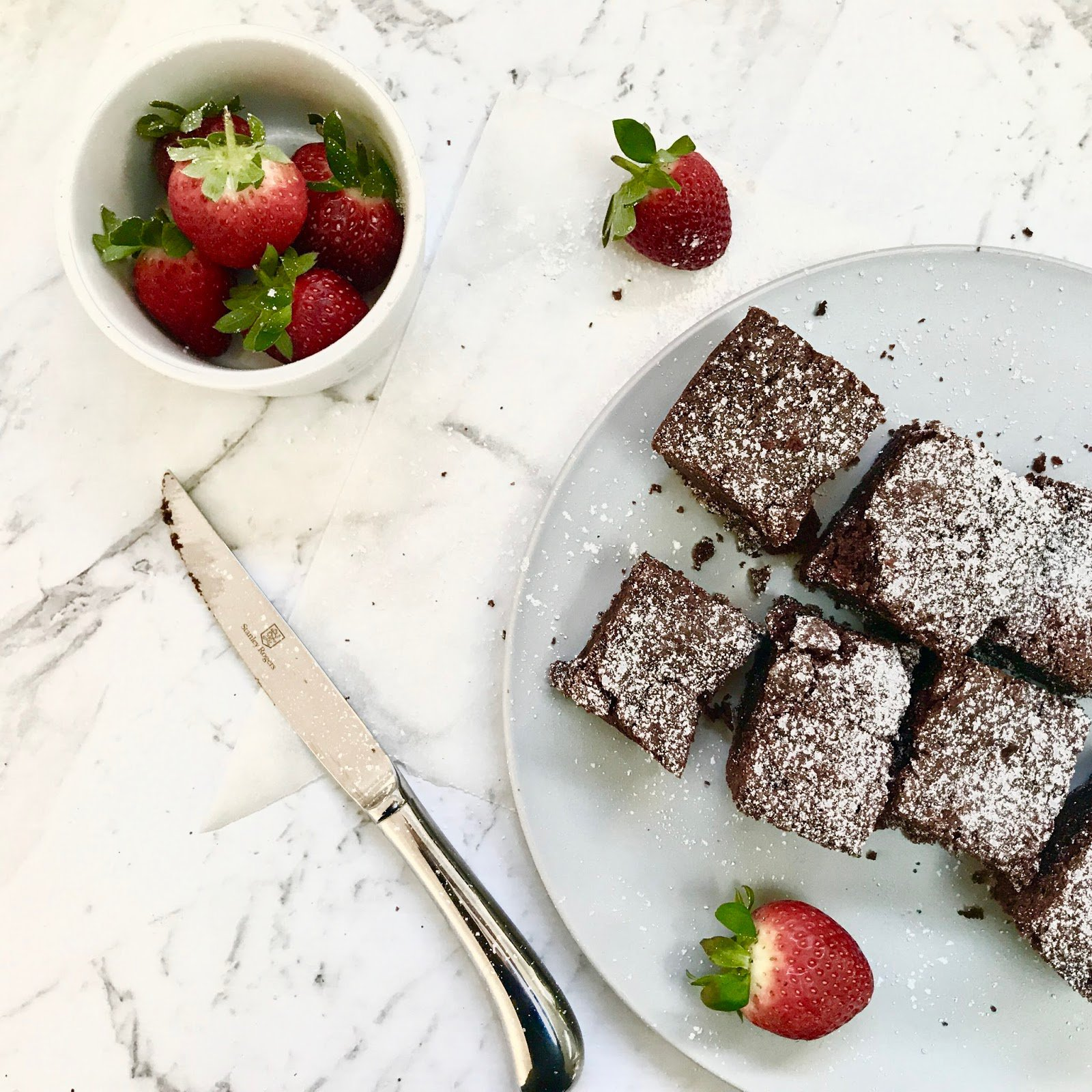 Low FODMAP Double Chocolate Brownies