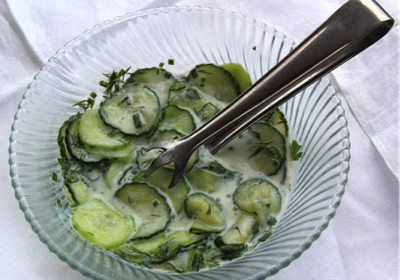 Low FODMAP German recipe: Cucumber salad