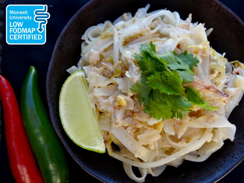 Low FODMAP Thai Fried Noodles with Crab