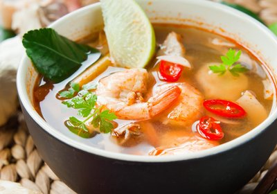 Low FODMAP Thai Tom Yum Soup