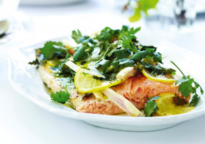 Makrut Lime and Lemon Salmon recipe