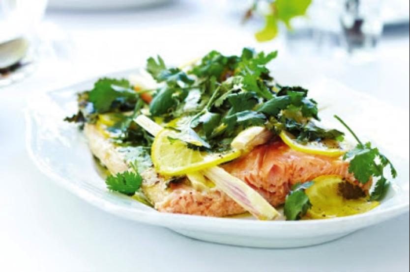 Makrut Lime and Lemon Salmon recipe