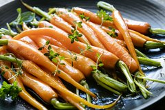 Orange and Maple glazed carrots