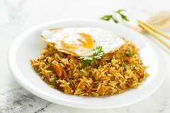 Nasi Goreng, rice dish with fried egg on top