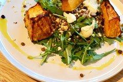 Roast Pumpkin, Halloumi & Millet Salad with Lemon-Herb Dressing