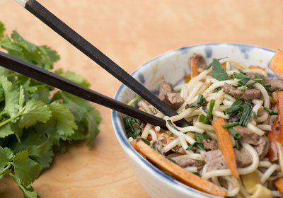 Stir Fried Beef with rice noodles