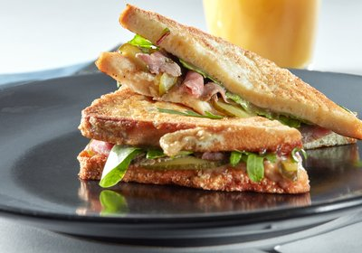 ham cheese & spinach toastie