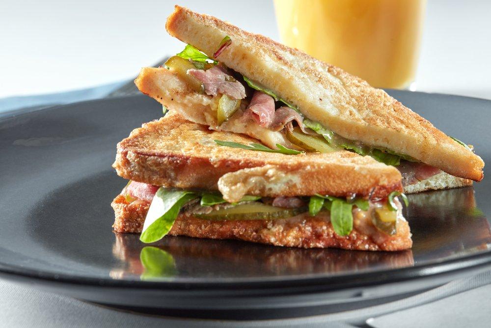 ham cheese & spinach toastie