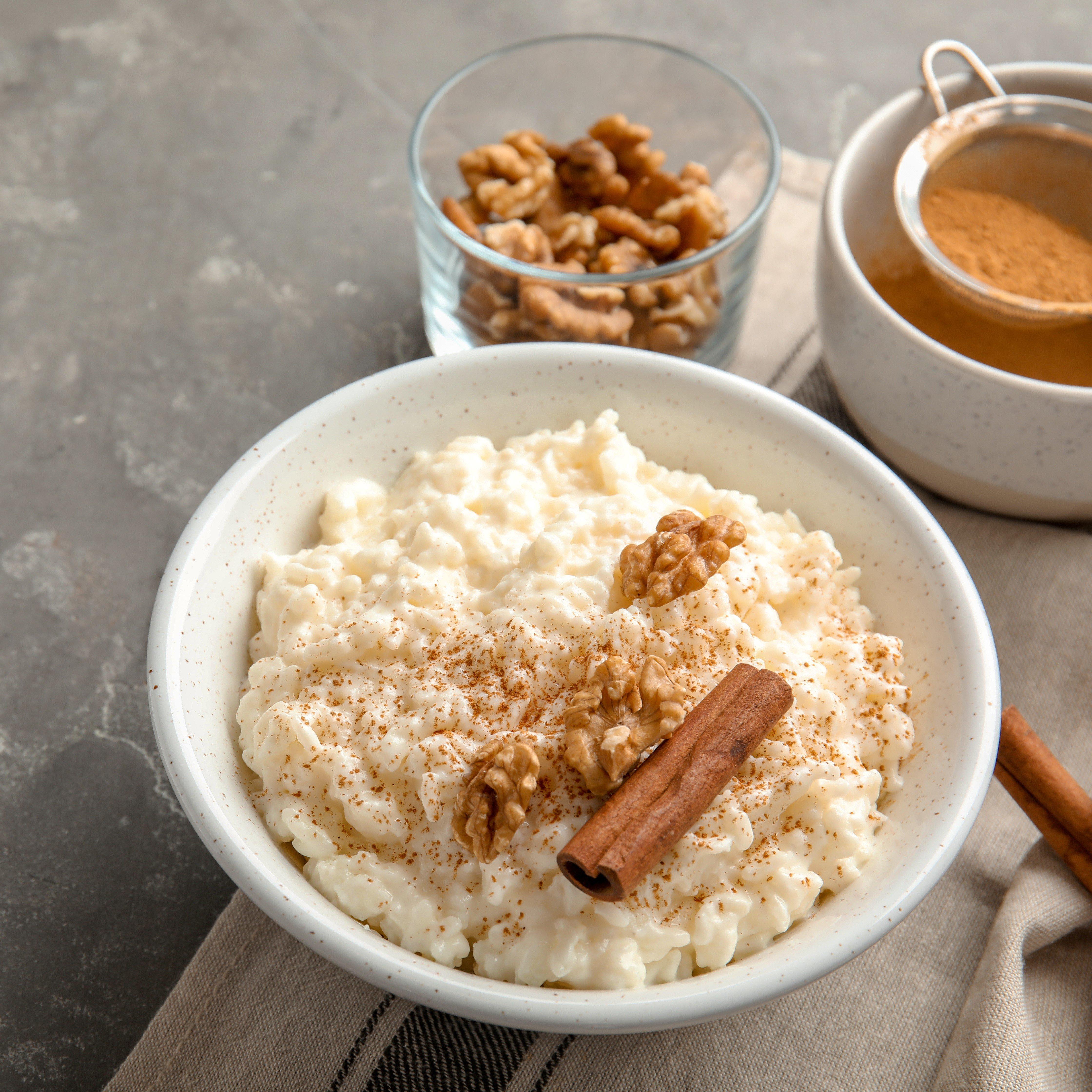 Rice pudding square