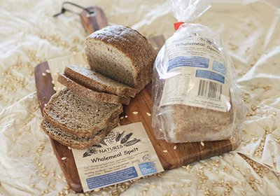 x2 Naturis Low FODMAP spelt sourdough bread options, certified by Monash University